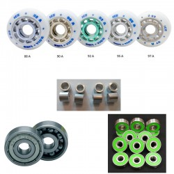 Roll Line Ice wheels + choice of bearings + spacers - 1