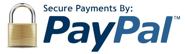Secure payments through the reliability of PayPal.
